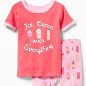 """Ice Cream Over Everything"" Sleep Set 18-24"